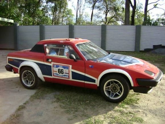 Triumph Targa Tasmania Rally Race Car For Sale Front