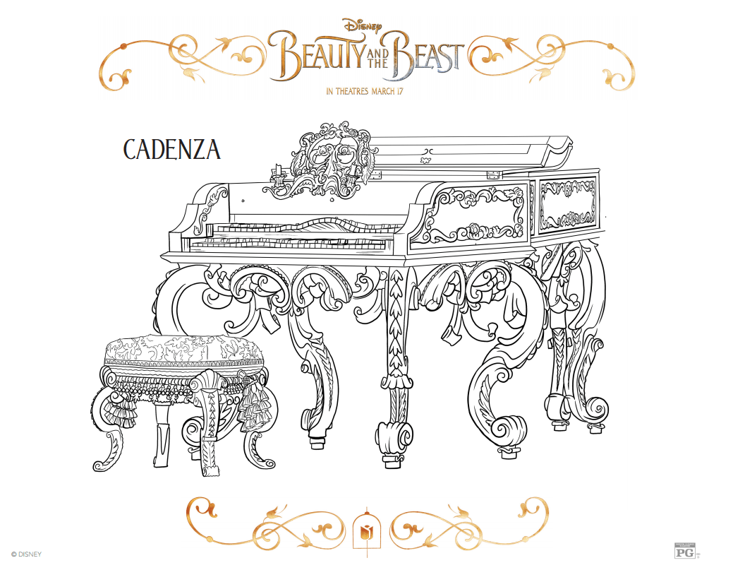 Free Beauty And The Beast Coloring Sheets Rural Mom