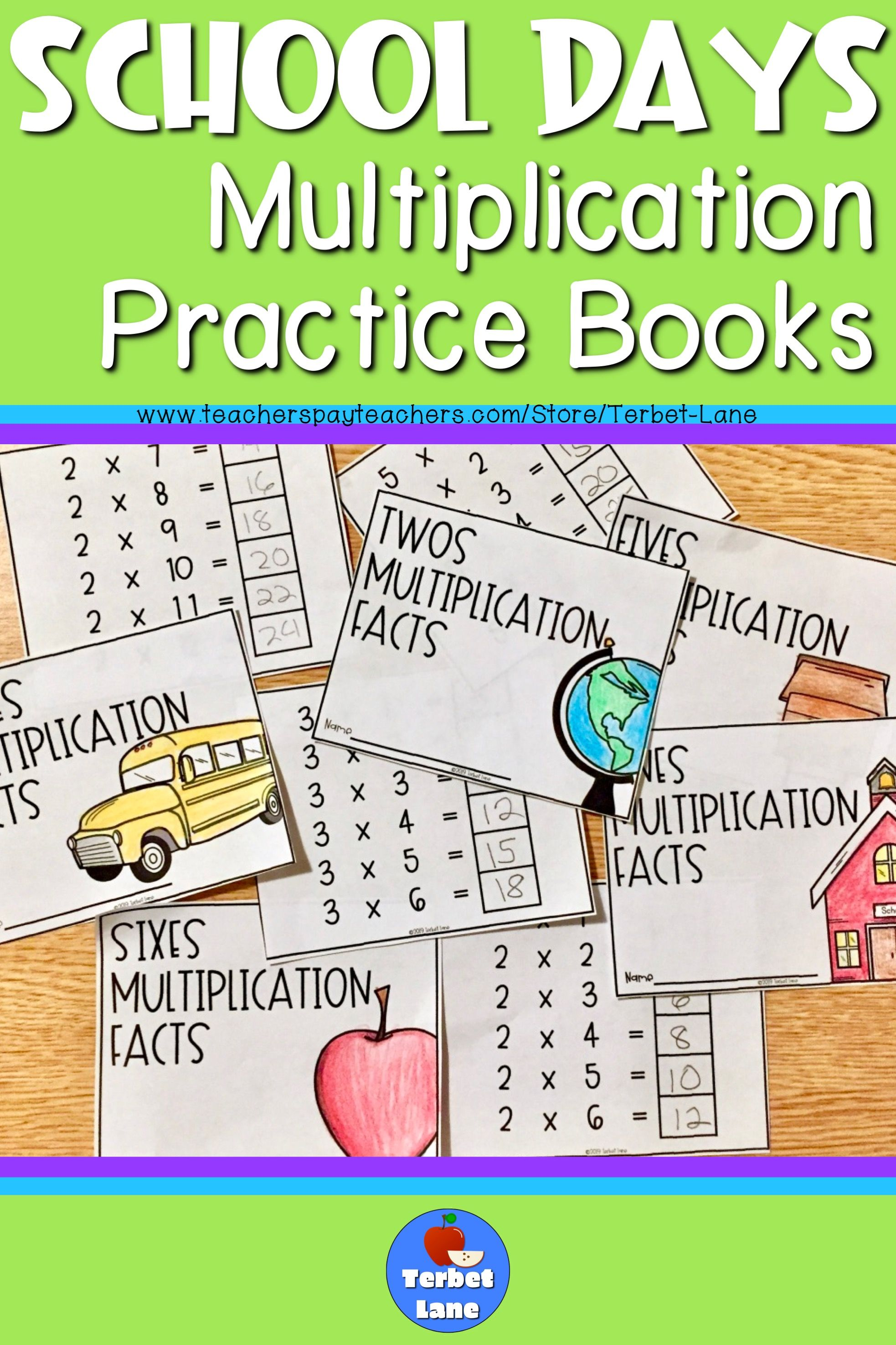School Days Multiplication Facts Practice Books