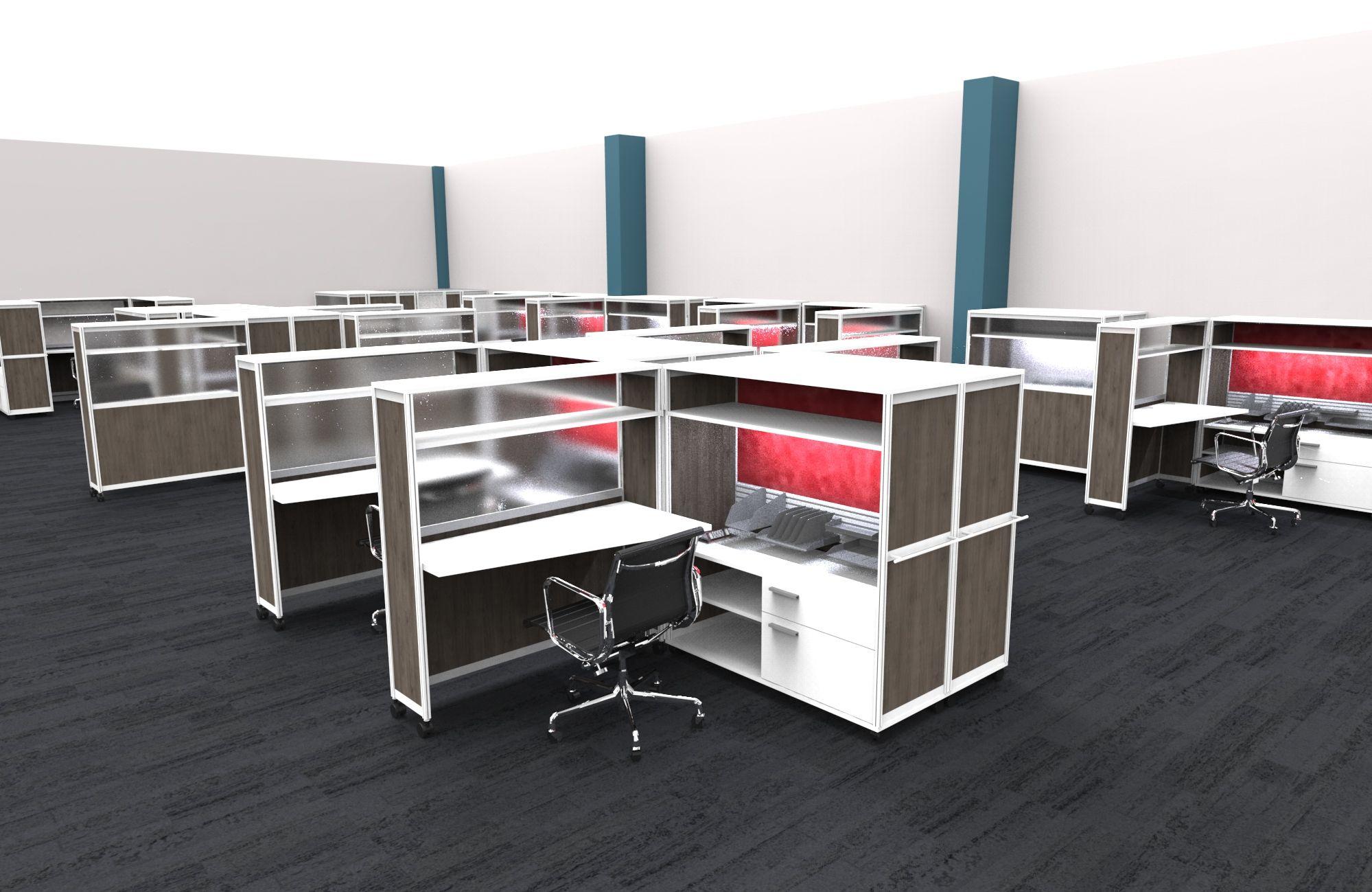 office cubicle desks. Bob Mobile Computer Cubicle Desk With Privacy Walls Office Desks