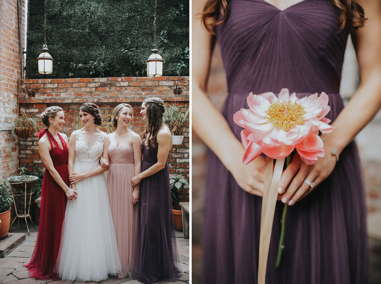 Elegant urban wedding with floral swings floral arrangements bridesmaid ombrellifo Image collections
