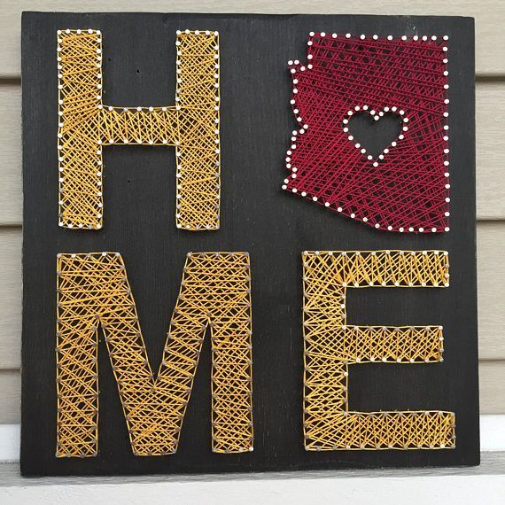 Declare Your Home State Pride With This Nail And String Art Home