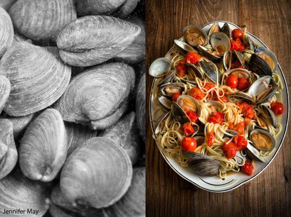 clam linguini, photo © jennifer may, food photographer