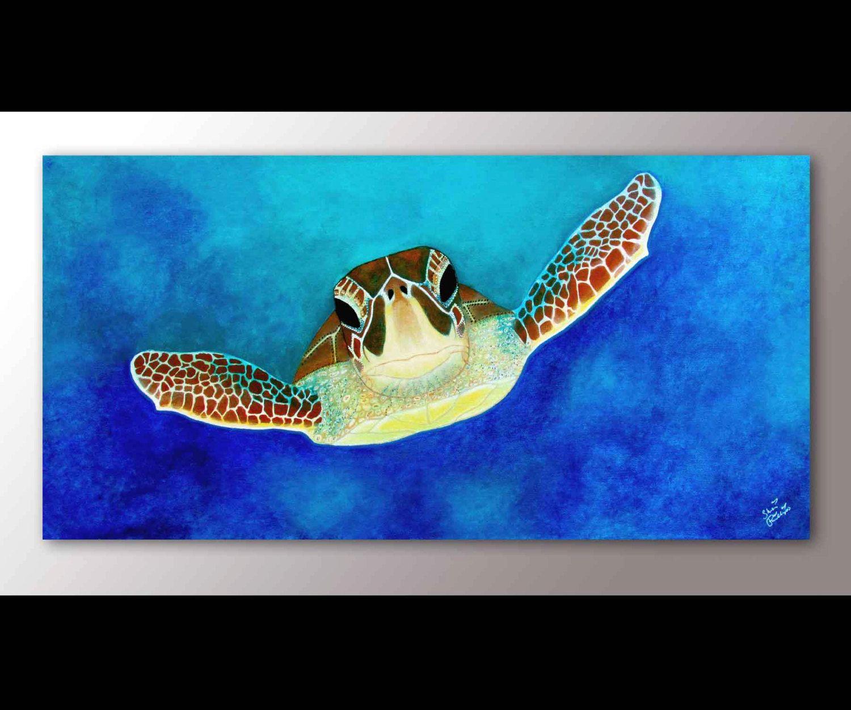 Sea Turtle Wall Art sea turtle painting print | sea turtle art | sea turtle decor