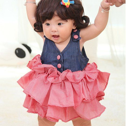 Urparcel Girl Baby Cute Princess Dress Jumpsuit Rompers One-piece Sundress 0-36M: Clothing