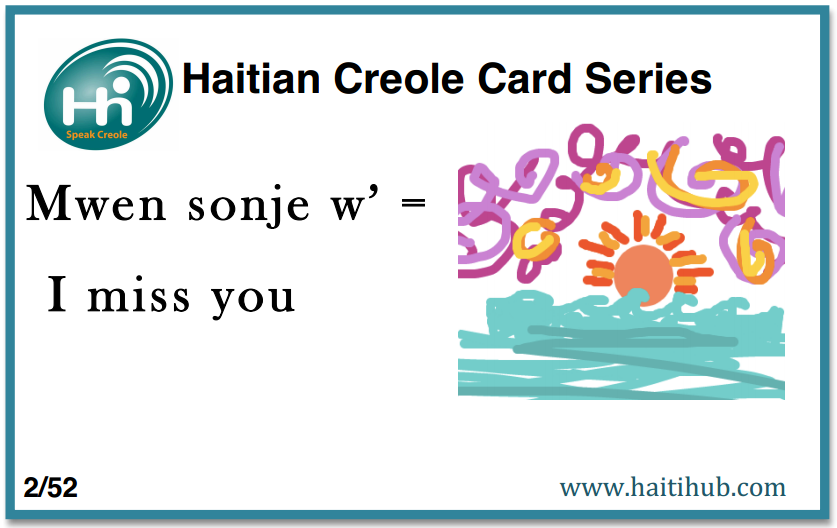 Speak Haitian Creole with Creole flashcards | Missions