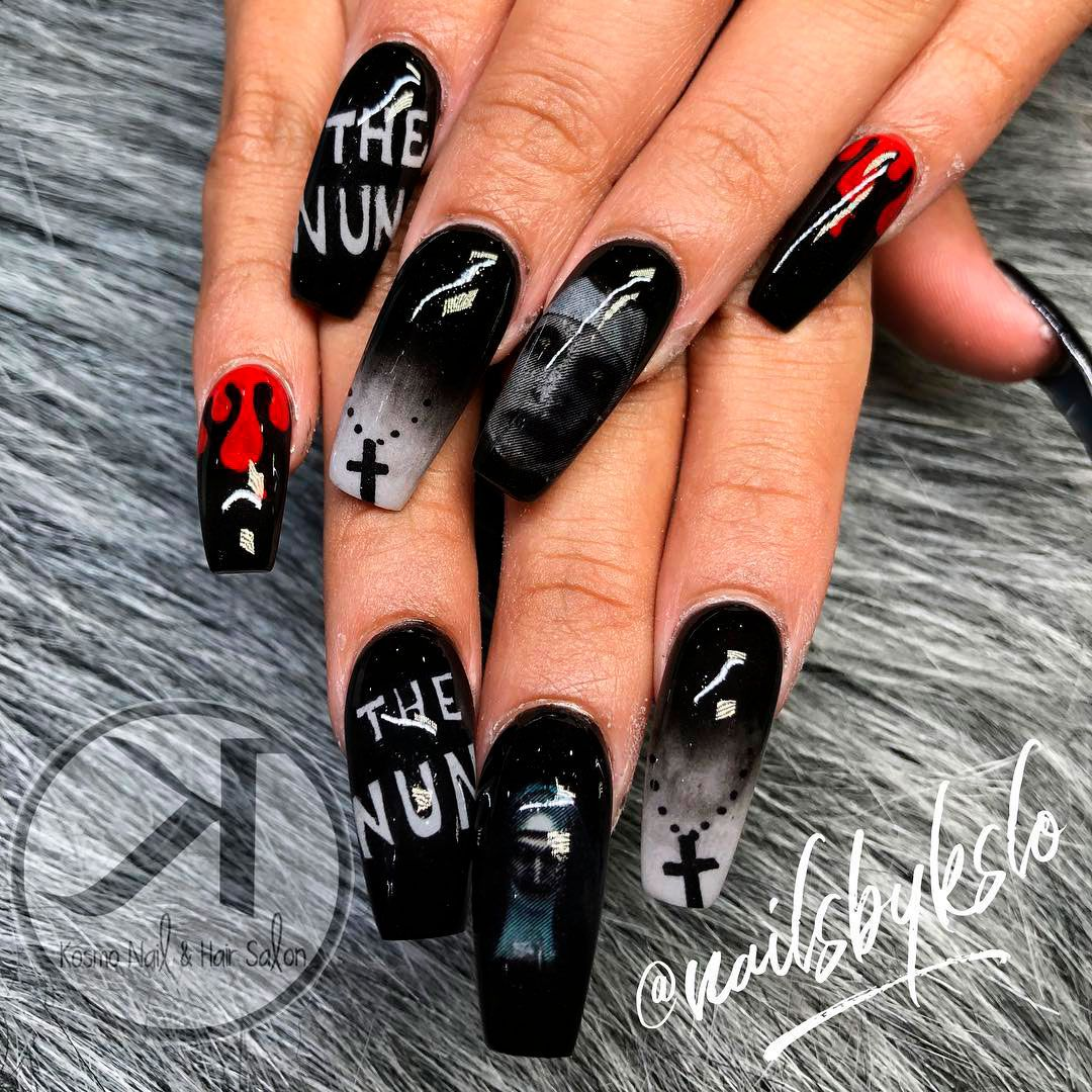 The Best Halloween Nail Designs In 2018 With Images Halloween Nail Designs Halloween Nails Diy Nail Designs