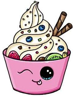 Frozen Yogurt Art Drawings Cute Drawings Drawings Kawaii Drawings