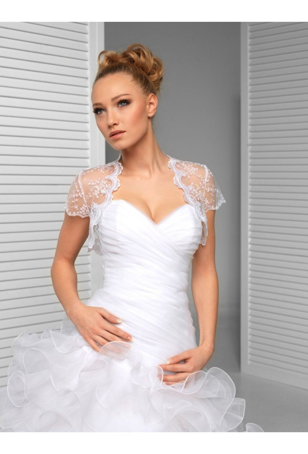 Click to buy ucuc classic design formal lace bridal bolero elegant