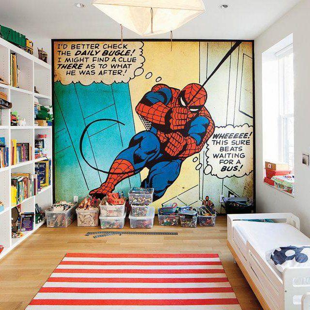 The Amazing Spiderman Comic Panel Rooms Kinderzimmer