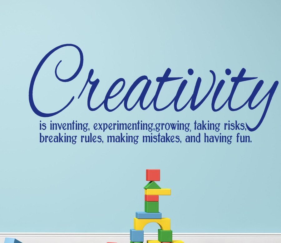 creativity vinyl wall decal words definition quote for home decor classroom inspirational message - Home Decor Quotes