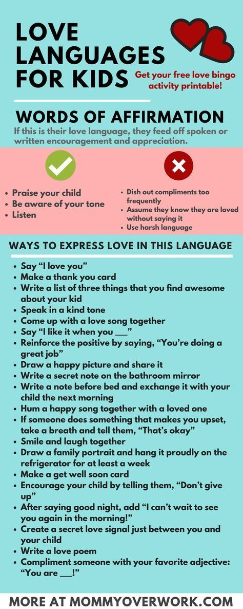5 Love Languages For Children 100 I Love Yous  Free -7968