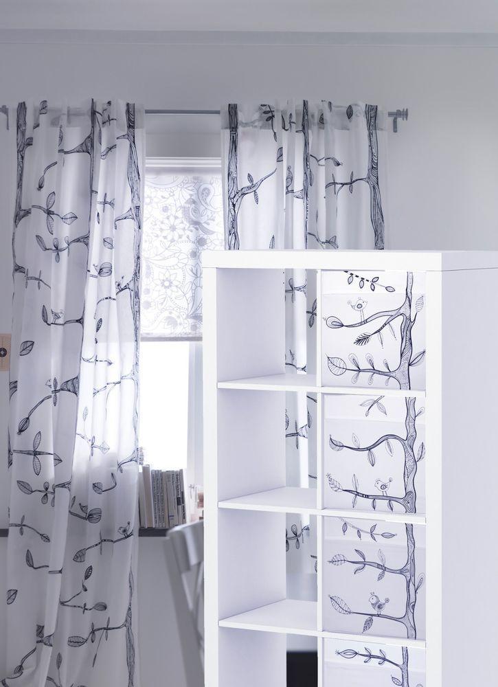 Ikea Drona Storage 4 Boxes White Expedit Insert Modern EIVOR
