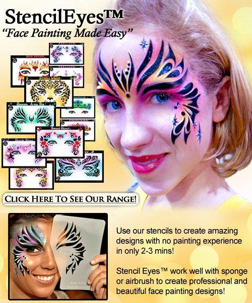 Best 25 Face Painting Stencils Ideas On Pinterest