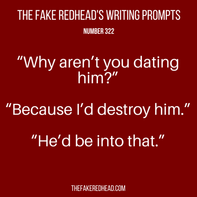TFR's Writing Prompts No. 321-325