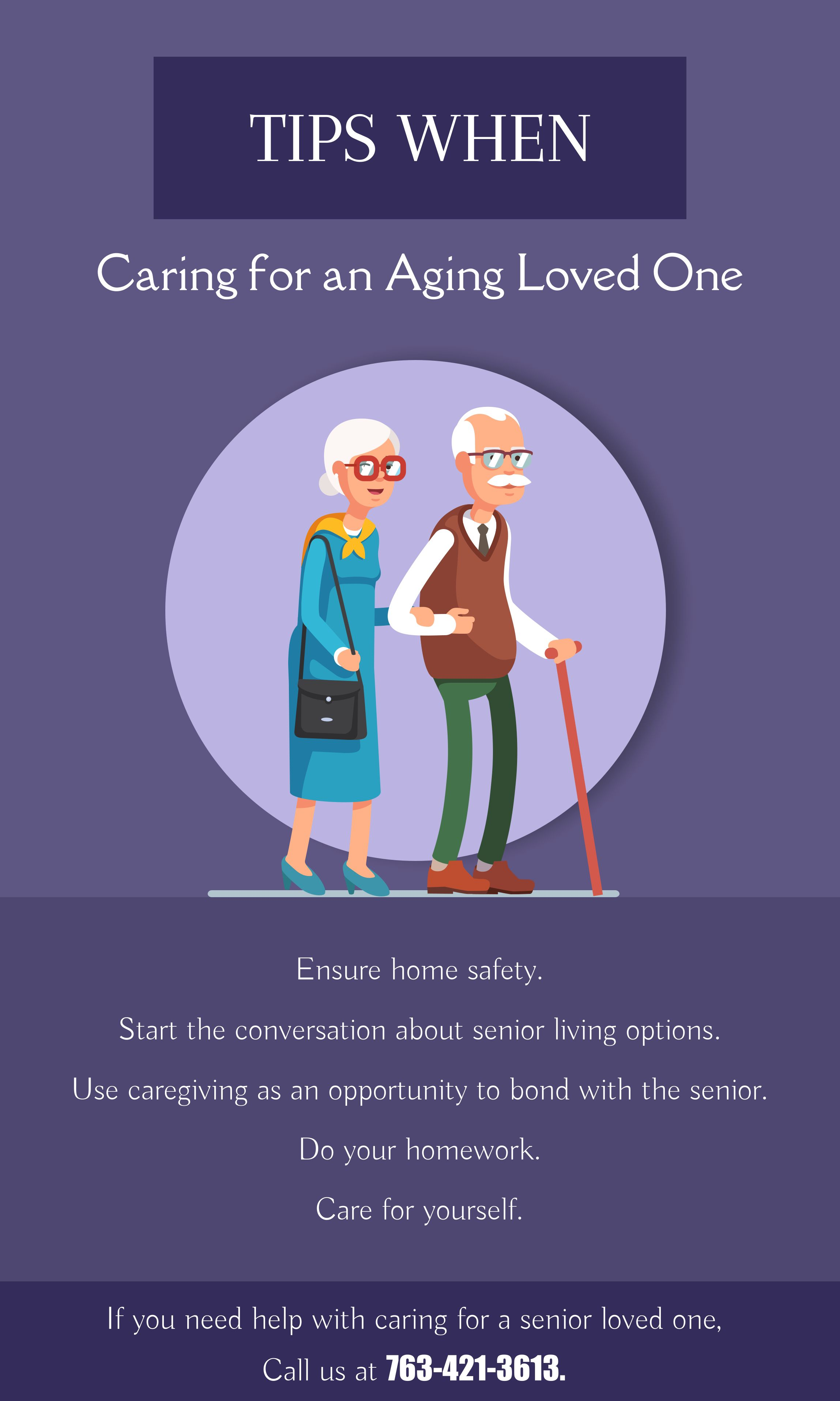 Tips when Caring for an Aging Loved One. HealthTips