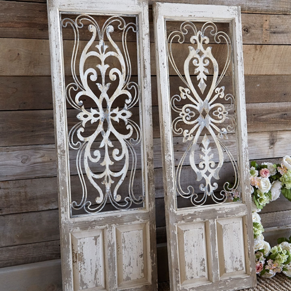 Distressed Door Panels Metal Wall Panel Doors Farmhouse Decor