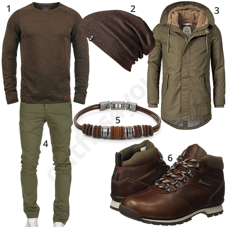 winteroutfit f r herren in khaki und braun pinterest men 39 s fashion man style and fashion. Black Bedroom Furniture Sets. Home Design Ideas