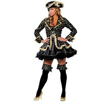 Women's  Halloween Classic Black gold pirates Cosplay  Costume - EUR € 29.99