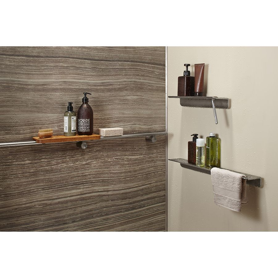 Love Kohler 300 Lbs Of Support Choreograph Anodized Brushed Nickel Shower Wall Shelf At Lowes Shower Wall Panels Bathroom Shower Panels Luxury Shower