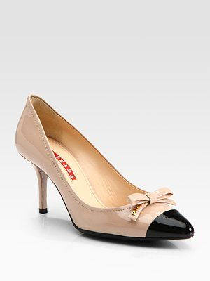 Prada Bi-Color Patent Leather Bow Pumps. They make me sigh a little bit don't they?