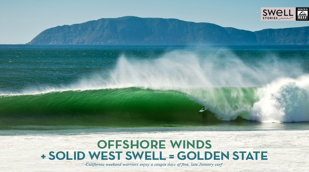 Offshore Winds Solid West Swell Golden State Surfing California Weekend Golden State