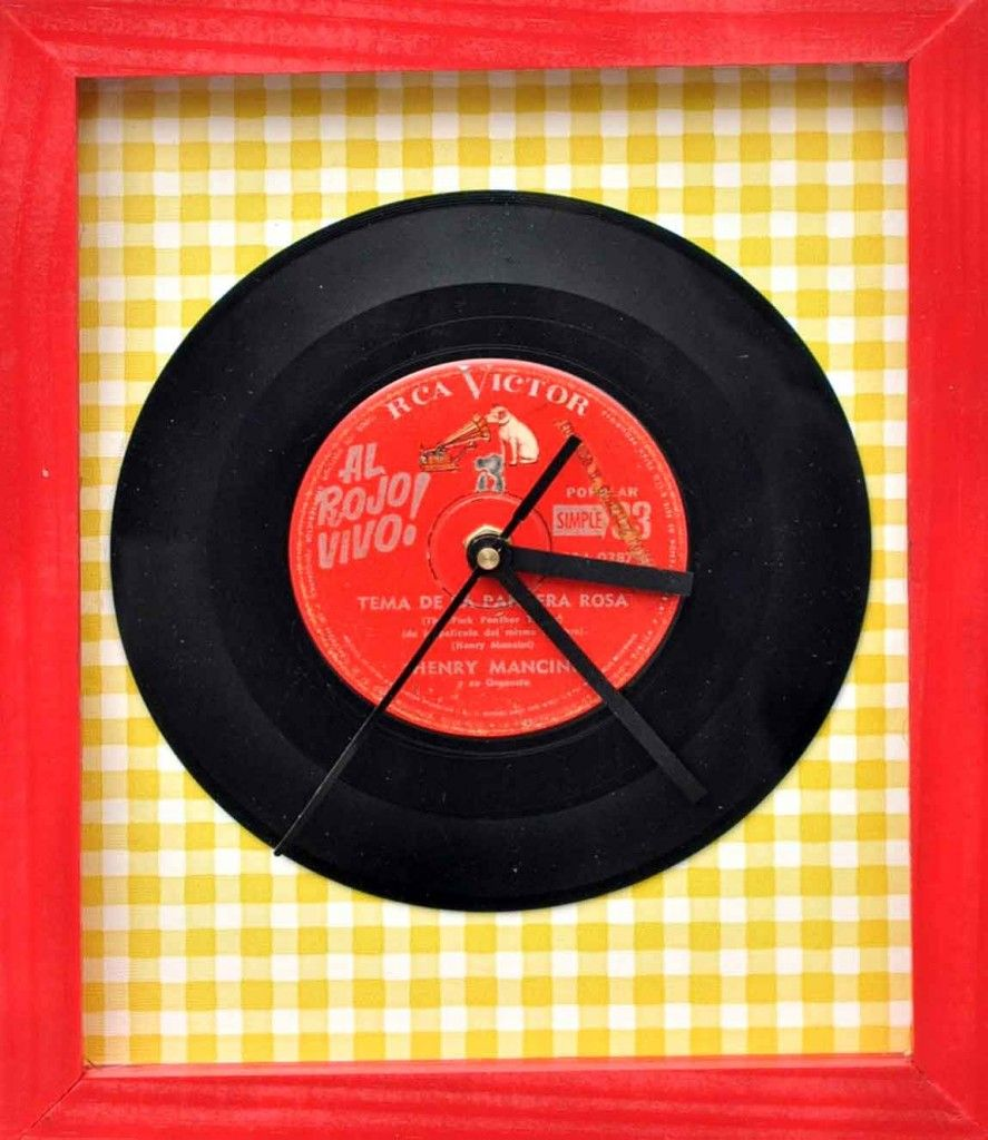 Relojes disco   Relojes   Pinterest   Reloj, Ideas creativas y Creativo