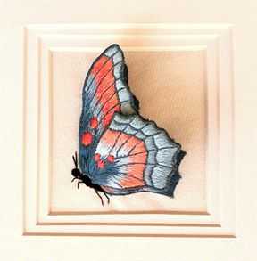 Image detail for -Luan B. Callery Butterfly - A Stumpwork Embroidery