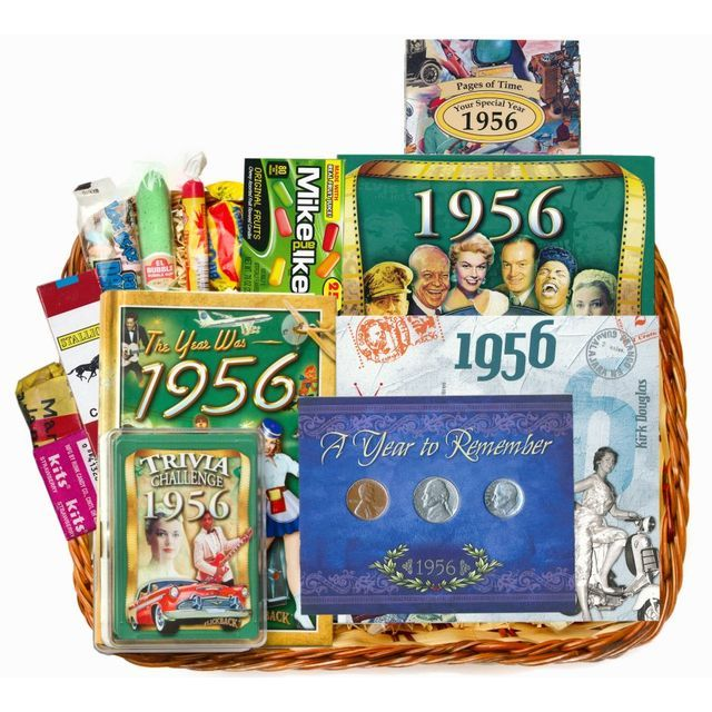 60th Birthday Or Anniversary Gift Basket For 1956