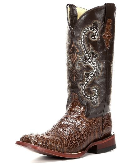 Women's Print Caiman Crocodile S-Toe Boot, Sport Rust