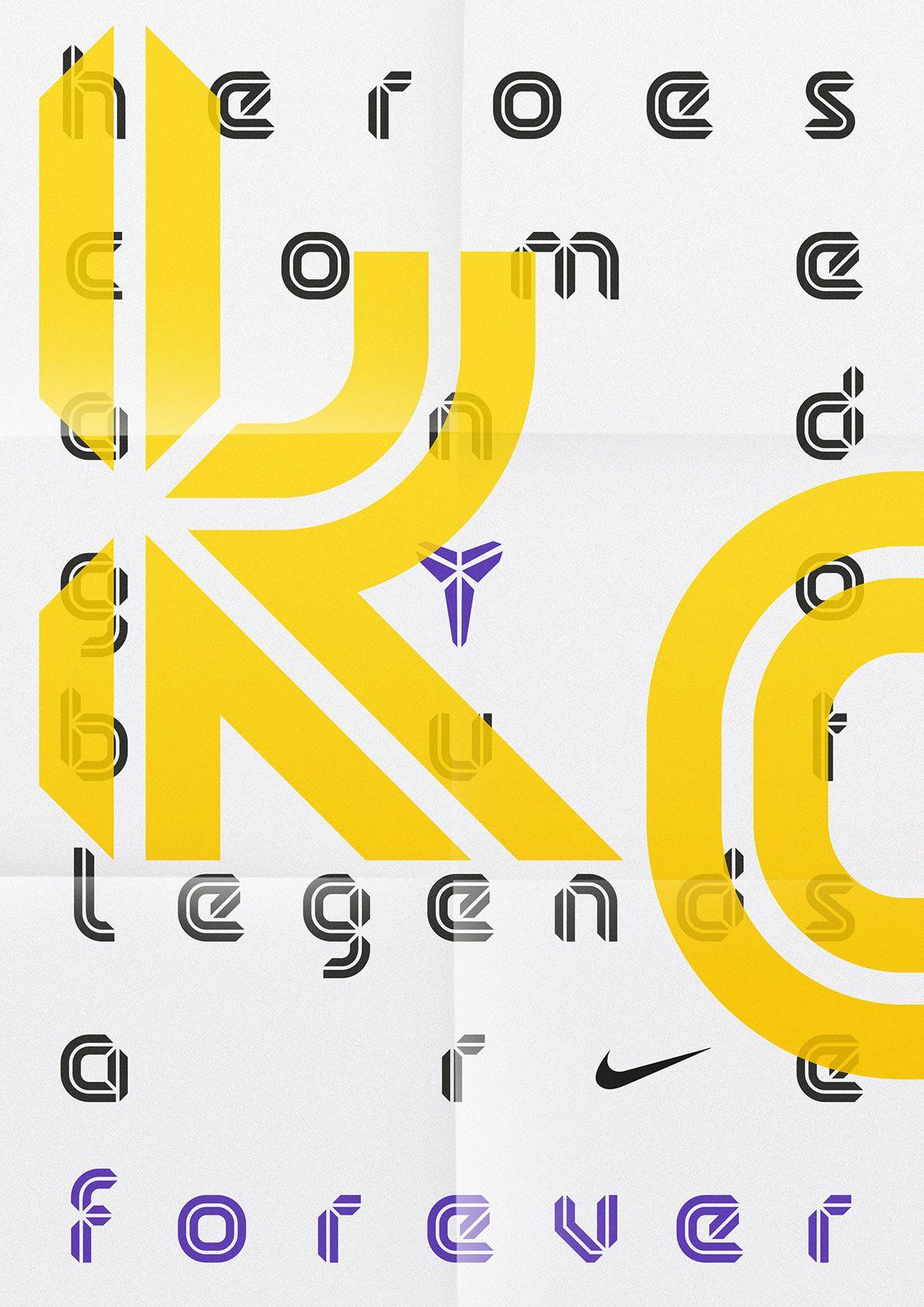 Kobe Bryant — Brand Typeface  by Sawdust