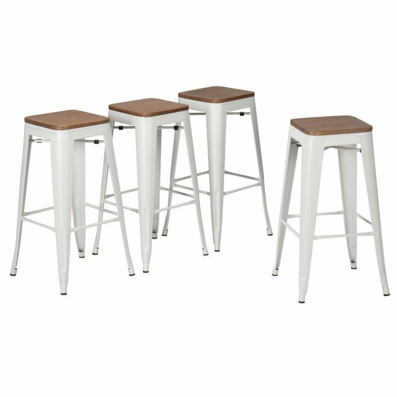 Jamar 30 Metal Bar Stools Wooden Seat Metal Bar Stools Bar