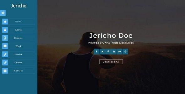 JerichoPortfolioResumeCv Html Template  Jericho Is An Html