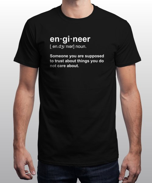 """""""Engineer Definition"""" is today's £9/€11/$12 tee for 24 hours only on Pin this for… 