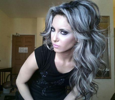 Black Hair With White Highlights Gray Hair Highlights Dark Hair With Highlights Hair Styles