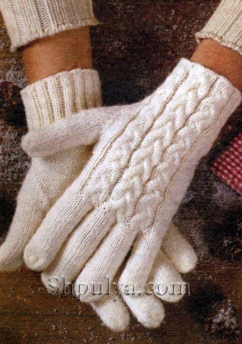 Перчатки вязанные