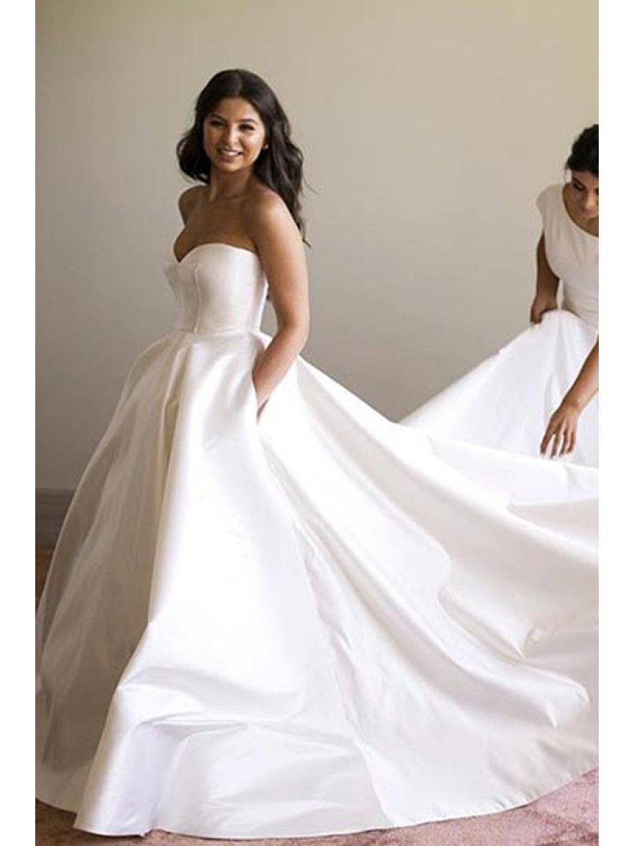 Ball Gown Sweetheart Simple Elegant Wedding Dresses Bridal Gowns ...