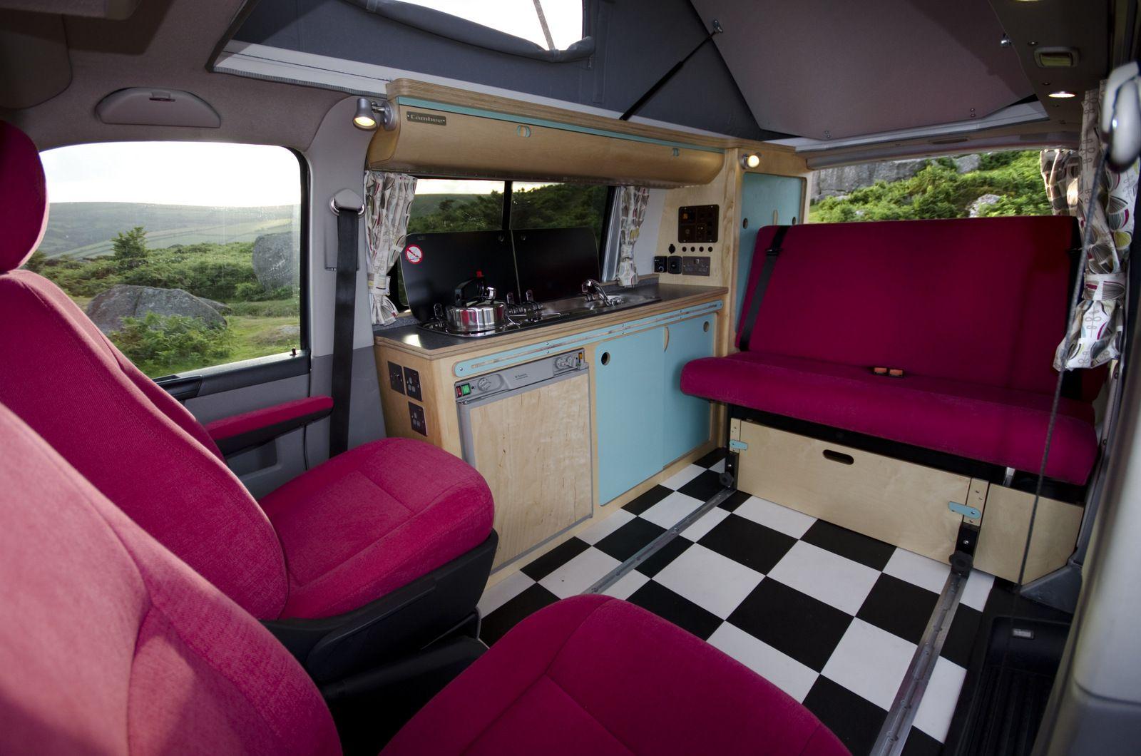 vw t5 campervan conversion interior vw. Black Bedroom Furniture Sets. Home Design Ideas