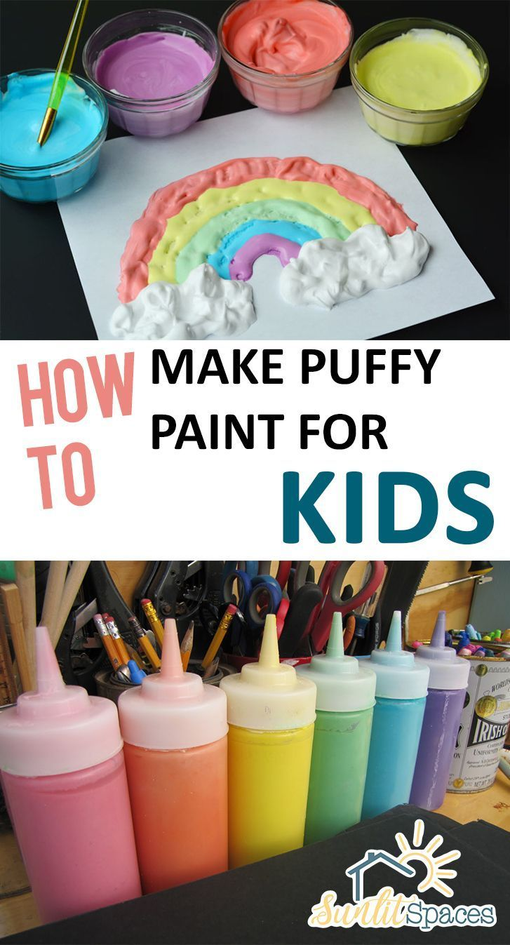 How to Make Puffy Paint for Kids - Sunlit Spaces |