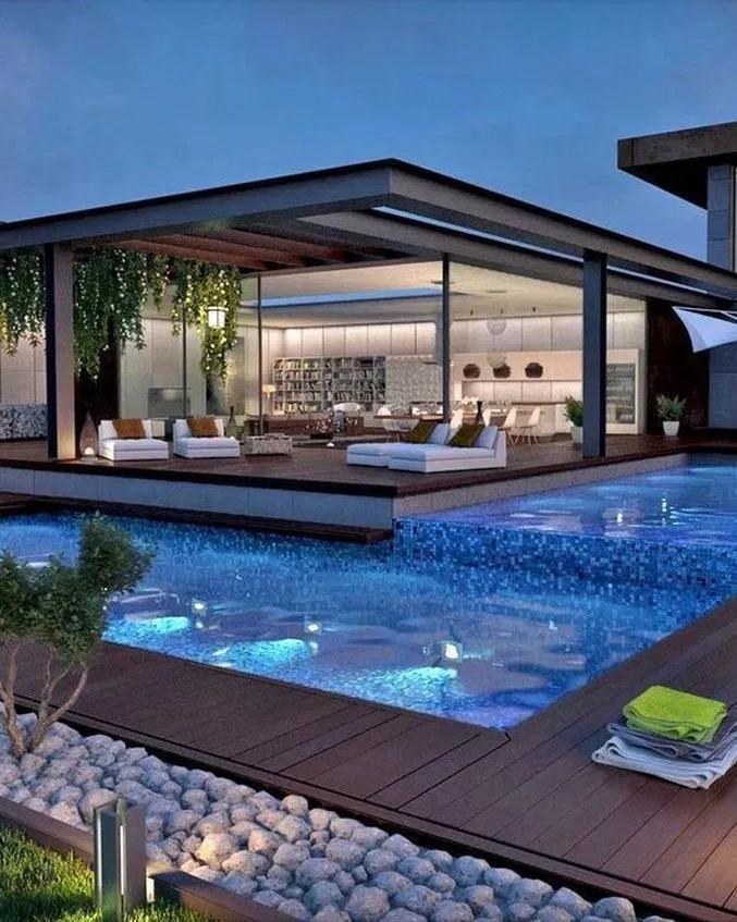 73 The Best Mediterranean Swimming Pool Design Swimmingpool Swimmingpooldesign Best Swimmingpooldesi Dream House Exterior House Exterior Luxury Modern Homes