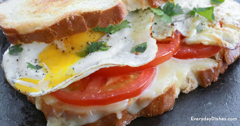 Fried egg grilled cheese sandwich - Everyday Dishes & DIY