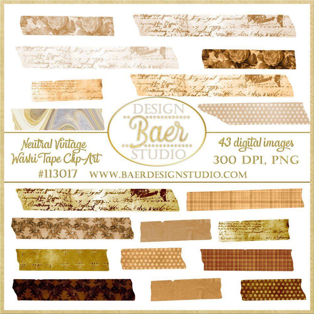 Digital Washi Tape Vintage Washi Tape Png Washi Tape Brown Etsy Washi Tape Washi Digital Scrapbook Paper