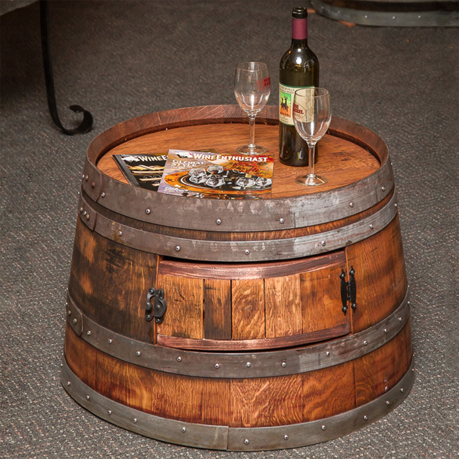 Wine Barrel Furniture Wine Enthusiast Wine Barrel Coffee Table