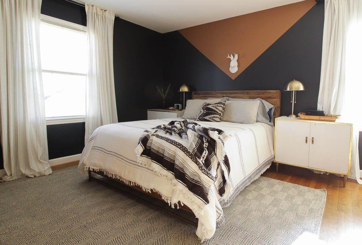 Diy Modern Color Block Wall Modern Bedroom Design Bedroom Paint Color Inspiration Bedroom Wall Colors