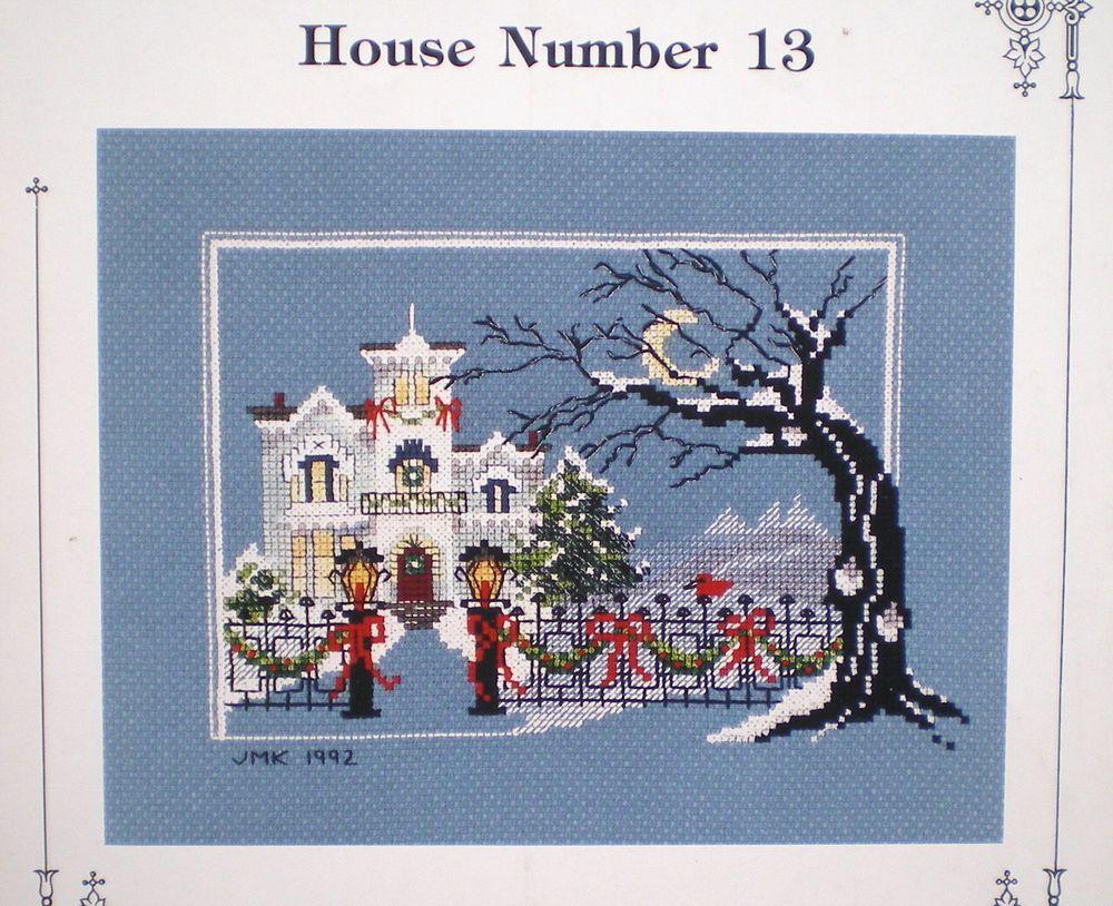 Judith kirby christmas victorians house cross stitch pattern
