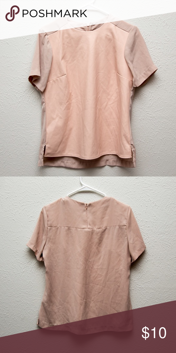 8a2d09413fa9f CLEARANCE Calvin Klein Pink Top Pink Faux Leather