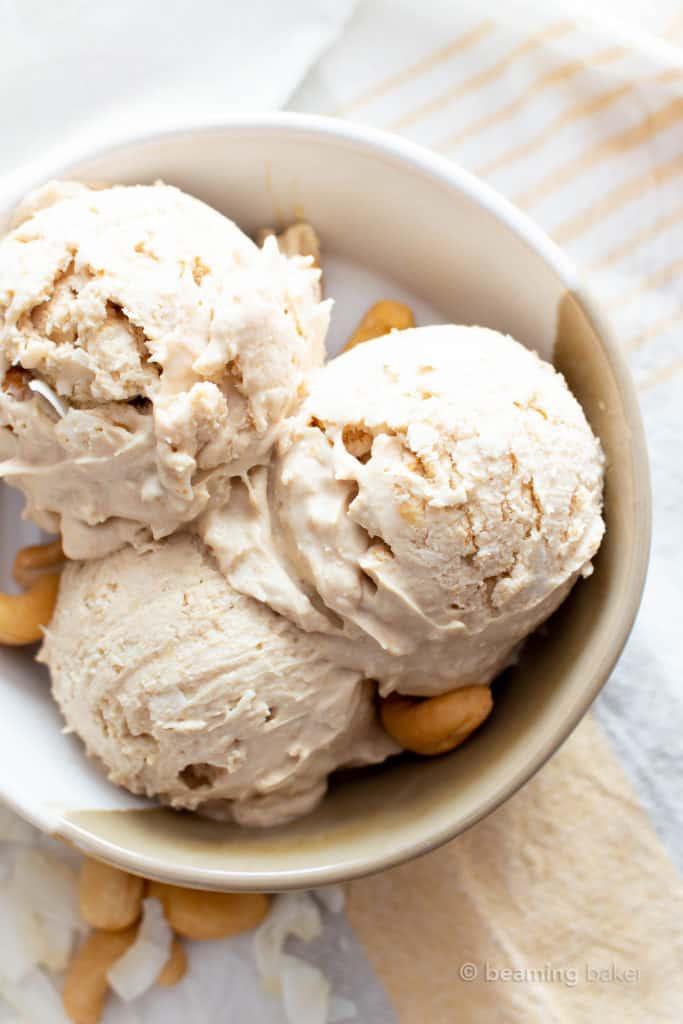 Homemade Cashew Coconut Milk Vegan Ice Cream Paleo Dairy Free Keto 5 Ingredient Beaming B Vegan Ice Cream Recipe Paleo Ice Cream Recipe Paleo Ice Cream