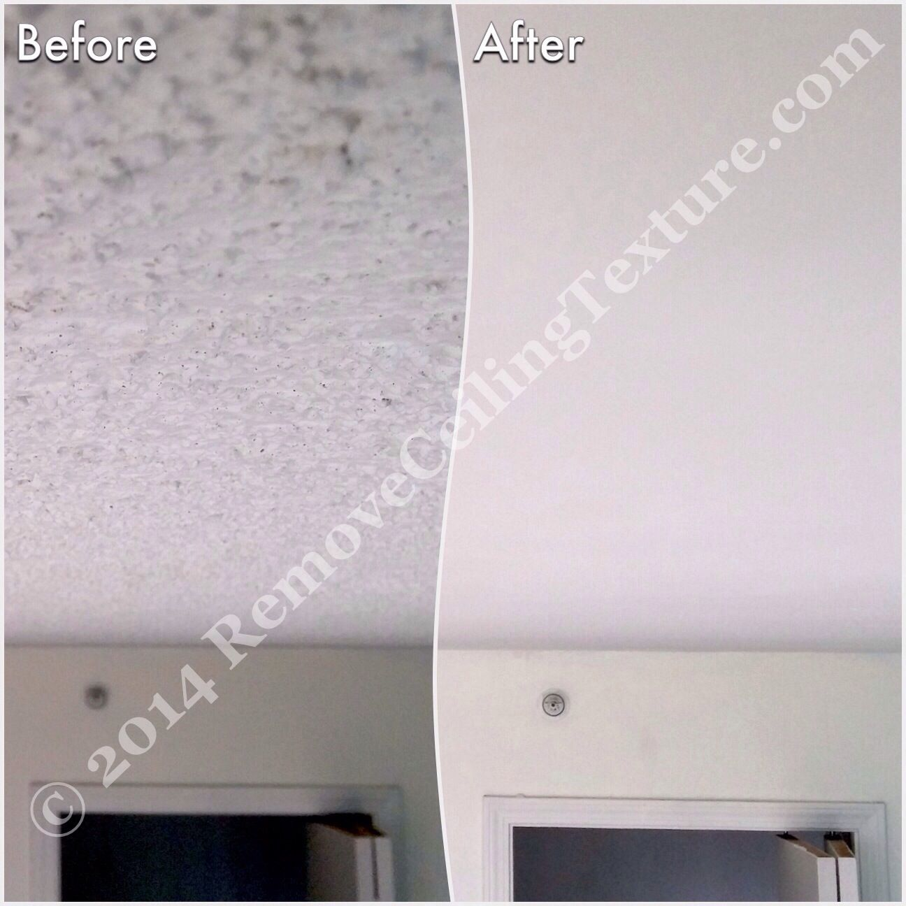 How To Remove Popcorn Ceilings: A Tongue In Cheek Guide. (Before