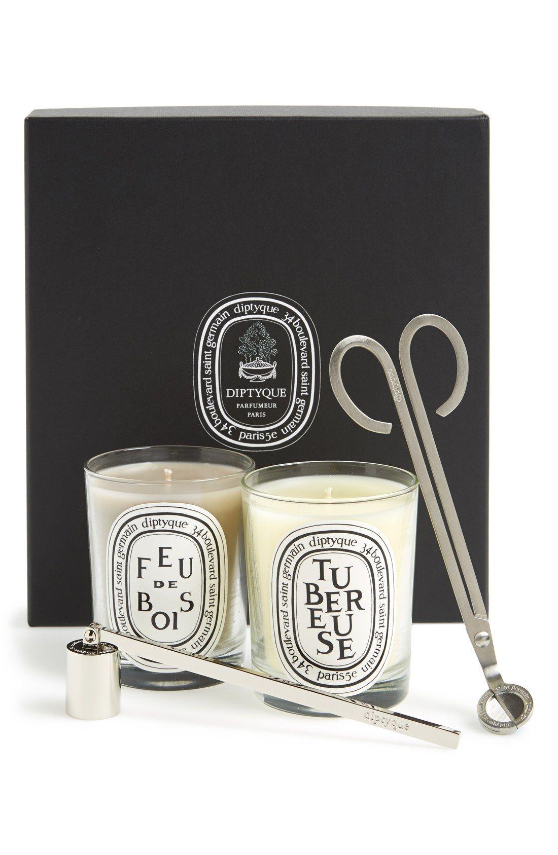diptyque 'Tubereuse & Feu de Bois' Candle Set $20 Value ...