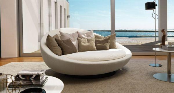 runde sofas f r eine harmonische und friedliche stimmung zu hause wohnideen pinterest. Black Bedroom Furniture Sets. Home Design Ideas